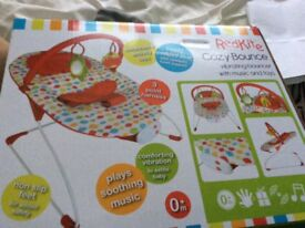 As new baby chair with music and also vibrates