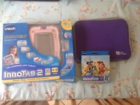 Pink innotab 2 with soft case and game