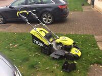 Petrol lawnmower/petrol strummer& electric blower/vac