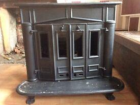 Cast Wood Burning Stove - Farmhouse Style