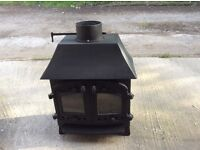 Villager B Wood Burning Stove With Low Canopy