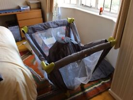 Travel cot for sale with its own mattress