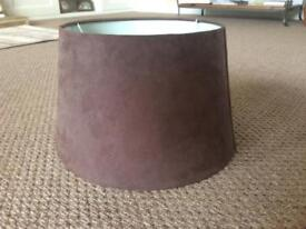Suede effect lamp shade