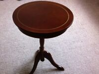 """repro dark wood trypod 0ccasional table 25""""x18"""""""