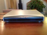 Pioneer silver and black DVD player