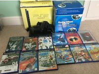 Sony PlayStation 2, 12 games and Racing Wheel