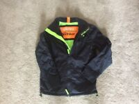 Mens Navy Superdry Windhiker Jacket - Size Small