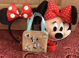 Minnie Mouse ears and bags