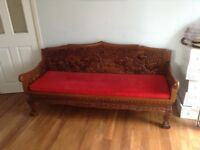 Oriental style carved furniture, 4 items.