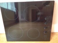 Black Glass Ceramic Hob, perfect working condition