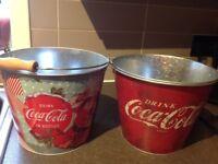 2 original coca cola ice buckets . New & never used .£18 the pair