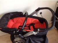Mamas & Papas Skate Carrycot/Pushchair With Rain-Cover, from birth to toddler