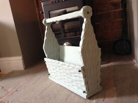 Shabby Chic Magazine Rack - hand restored