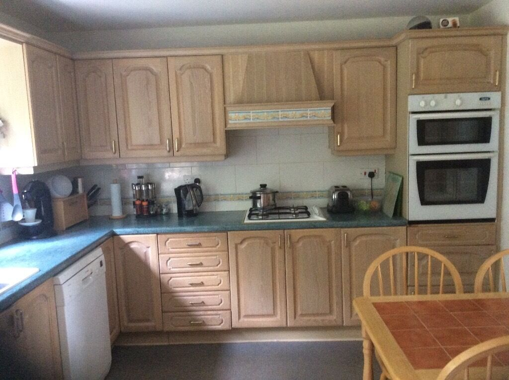Limed Oak Kitchen Wall Units