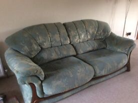 2x sofa's and matching chair