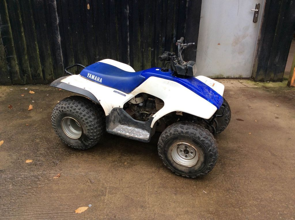 yamaha breeze 125cc quad bike white blue in somerset. Black Bedroom Furniture Sets. Home Design Ideas