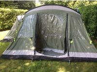 Outwell Montana 6 Tent, extension ,carpet, windbreak