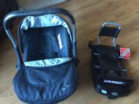 Silvercross car seat and isofix base. Hood and cover included