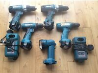 Makita 12 volt range plus 2 x 240v tools