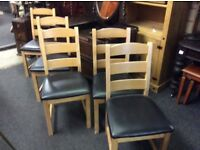 Reduced dining table & 5 chairs