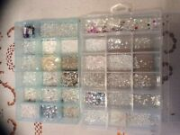 Wedding dress beads and sequins for dressmaking