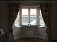 Dunelm Curtains, blind and cushions