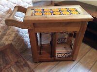 Wooden kitchen block