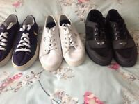 3 pairs of boys-men's trainers size 10