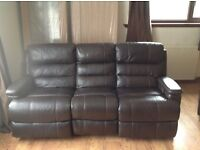 Osbourne electric recliner three seater sofa and chair from sofa works.