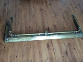 Victorian brass fire fender