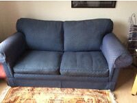 Metal action 2 seater bed settee. Matching footstool.