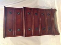 Small Vintage Mid Century Solid Mahogany Chest Of Drawers
