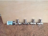 4 x 15mm Column Straight Chrome Radiator Valves