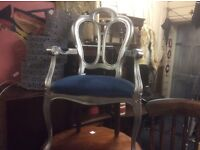 Reduced vintage French style chair