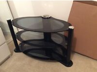 Black Glass TV stand for TV up to 40""