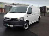 2016 LONG WHEEL BASE VOLKSWAGEN TRANSPORTER 2.0 TDI BLUEMOTION TECH WITH ALL THE OPTIONS. PLY LINED.