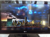 LG 32 inch LCD Full HD TV. With stand, remote and power cable.