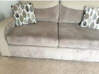 3 Seater Sofa and Cuddler Chair