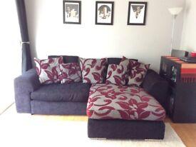Corner sofa and swivel love seat - excellent condition