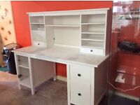 Work desk white year old £315 in ikea
