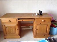 Double cupboard desk