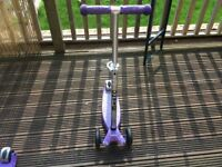 Purple maxi micro scooter