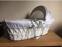 John Lewis Wicker Moses Basket