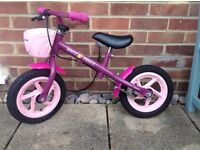 Hudora girls balance bike with brake