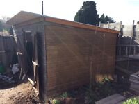 14 x 8 pent roof shed