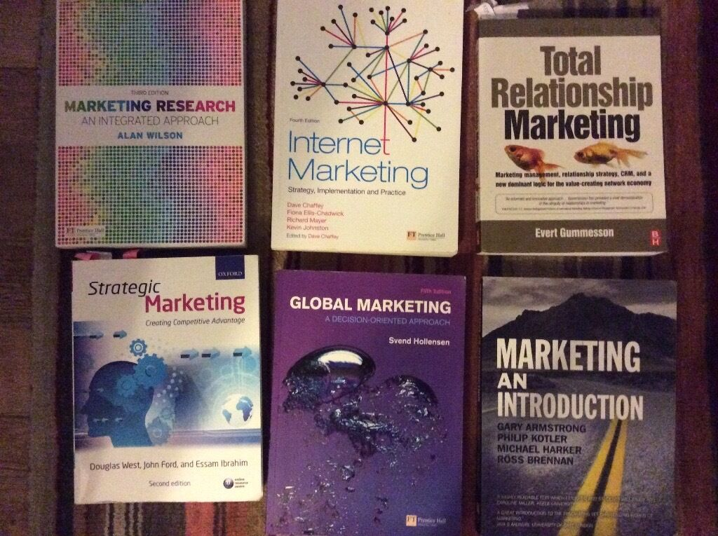 Books on Marketing for University Course