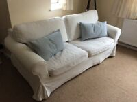 Ektorp sofa bed- bright white cover