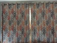 FULLY LINED PROFESSIONALLY MADE FLOOR LENGTH EYELET CURTAINS