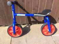 Brian Clegg balance bike.