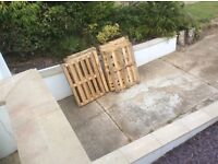 13 wooden pallets free for collection from Seaford.